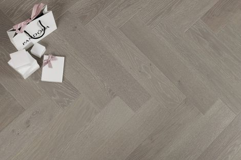 WFUK Oak Brushed Grey Herringbone