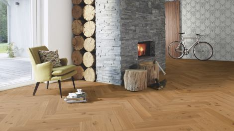 Boen Click Herringbone Oak Animoso 14mm x 138mm