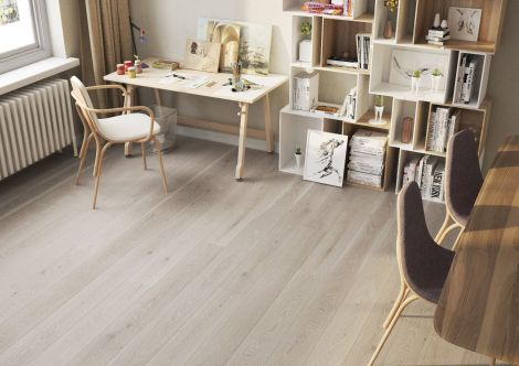 WFUK White Washed Clay Oak 14mm x 180mm Brushed Matt Lacquered