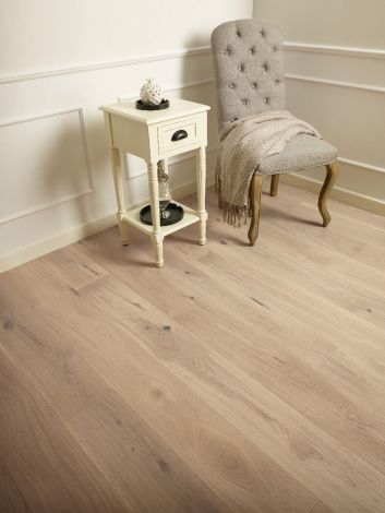 WFUK Invisible White Co. Oak 14mm x 180mm Brushed Matt Lacquered