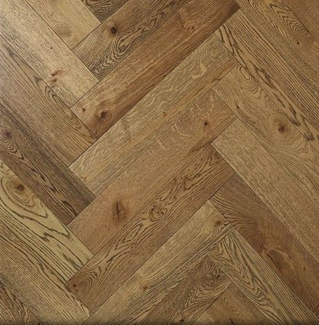 WFUK Oak Black Grain Herringbone