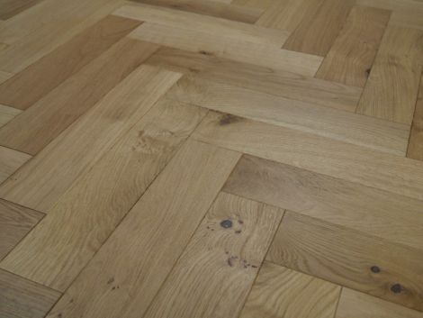 WFUK Oak Herringbone Brushed UV Oiled