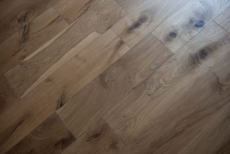 WFUK Timeless Rustic Oak Smoked 14mm x 190mm Brushed & UV Oiled