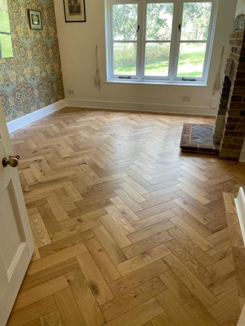 WFUK Herringbone Oak Classic 14mm x 100mm Matt Lacquered